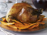 Roasted Turkey with Stuffing and Pumpkin recipe