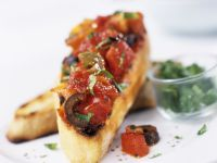 Roasted Vegetable Bruschetta Slices recipe