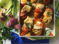 Roasted Vegetable Crostini recipe