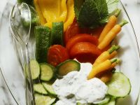 Roasted Vegetables with Herb Sauce recipe