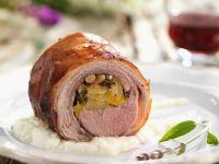 Rolled Lamb Roast with Pignoli recipe