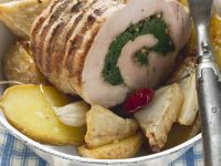 Rolled Pork Roast with Potatoes and Celery Root recipe