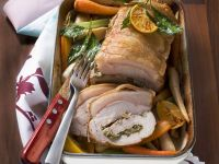 Rolled Roasted Pork Loin with Parsley Pesto recipe