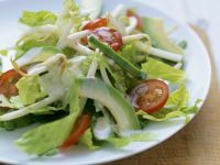 Romaine Salad with Sprouts and Avocado recipe