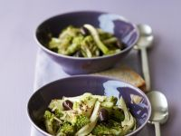 Romanesco and Fennel Salad with Olives recipe