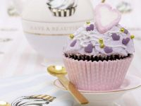 Romantic Heart Fairy Cakes with Topping recipe