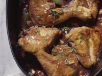 Rooster in Wine Sauce (Coq Au Vin) recipe