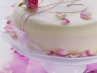 Rose Cake with Rose Petals recipe
