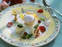Rose Petal Sorbet with Buttermilk Mousse recipe