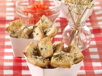 Rosemary and Sea Salt Crackers with Tomato Relish recipe