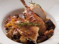 Rosemary Chicken with Eggplant Ragout recipe