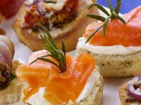 Rosemary Scones with Smoked Salmon recipe