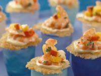 Rösti Appetizers with Shrimp recipe