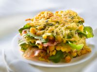 Rosti (Potato Fritters) with Arugula and Bacon recipe