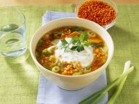 Rustic Lentil and Leek Soup recipe