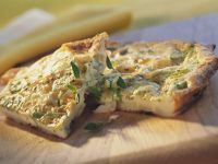 Rustic Omelet with Leeks and Herbs recipe