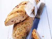 Rye Bread with Bacon and Herbs recipe