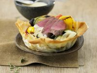 Saddle of Lamb Puff Tart recipe