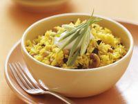 Saffron and Cashew Pilaf recipe