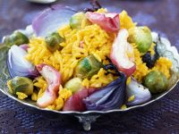 Saffron Rice with Apple and Vegetables recipe