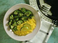 Saffron Rice with Broccoli recipe