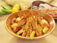 Saffron Rice with King Prawns recipe