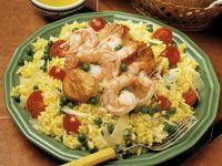 Saffron Rice with Seafood recipe