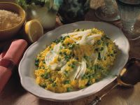 Saffron Risotto with Peas and Fennel