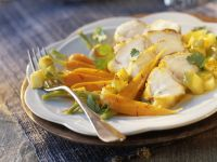 Saffron White Fish with Herbs recipe