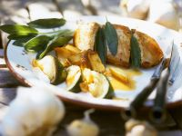Sage Chicken Breasts with Potatoes recipe