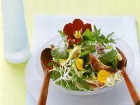 Salad Greens with Flowers recipe