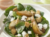 Salad of Spinach, Pears, Walnuts and Feta recipe