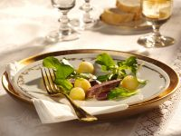 Salad with Apple Balls and Fillet of Hare recipe