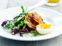 Salad with Bacon and Hard-Boiled Eggs recipe