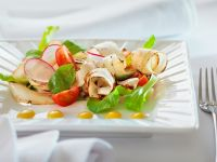 Salad with Black Salsify, Tomatoes and Radishes recipe