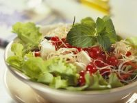 Salad with Cellophane Noodles, Cheese and Currants recipe