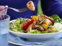 Salad with Chicken Strips and Pineapple recipe