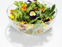 Salad with Edible Flowers recipe