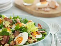 Salad with Eggs, Bacon, and Peanuts recipe