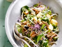 Salad with Fava Beans, Sprouts and Chicken recipe