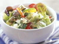 Salad with Feta, Olives and Peppers recipe