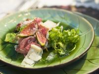 Salad with Figs, Serrano Ham, and Parmesan recipe