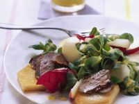 Salad with Foie Gras and Toast