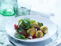 Salad with Fried Mozzarella Balls recipe