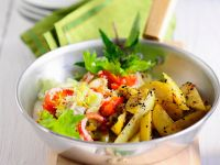 Salad with Fried Potatoes recipe