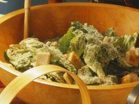 Salad with Garlic Croutons recipe