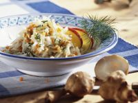 Salad with Jerusalem Artichokes, Apples and Walnuts recipe