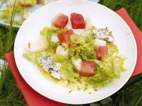 Salad with Melon and Roquefort Cheese recipe