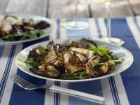 Salad with Mushrooms and Chicken Breast recipe