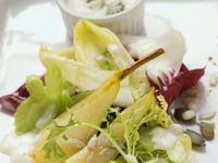 Salad with Pears and Creamy Dressing recipe